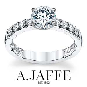 A. Jaffe Engagement Rings available at D. Geller & Son Jewelers