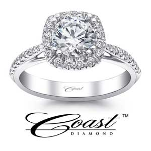 Coast Diamond Engagement Rings available at D. Geller & Son Jewelers