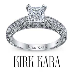 Kirk Kara Engagement Rings available at D. Geller & Son Jewelers