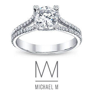 Michael M Engagement Rings available at D. Geller & Son Jewelers